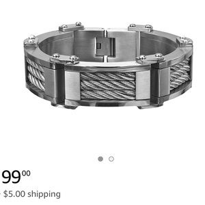 HEAVY DUTY MENS STAINLESS STEEL CABLE BRACELET